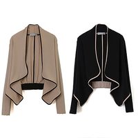 NEW GOODS NEW ITEMS Women Fashion Long Sleeve Shoulder Pad All Match Loose Short Coat Casual