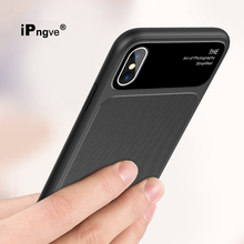 ipngve For iPhone X Case New Arrivals Tempered Glass Soft TPU Back Cover Phone Bags Coque Fundas For iPhone 8 7 Plus Cases