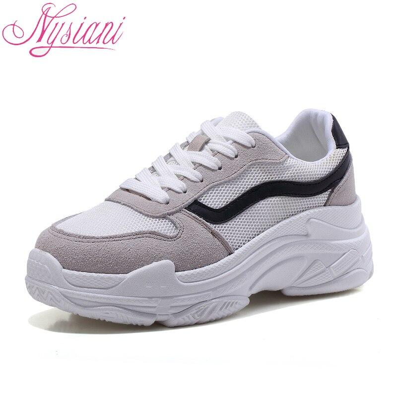 2018 Split cuero mujeres zapatillas de punta redonda Color de la mezcla plataforma plana mocasines para mujeres atan para arriba los zapatos de moda nysiani