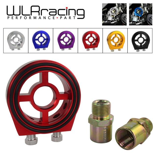 WLR RACING M20X1.5 3/4-16 1/8 ДНЯО Алюминий Гонки Нефть Давление датчик масляный фильтр Сэндвич адаптер WLR6722