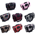 Pet Luggage Carriers Chihuahua Dog Travel Bag Mesh Breathable Oxford Print Pet Tote Bag For Small Dog Cats Free Shipping