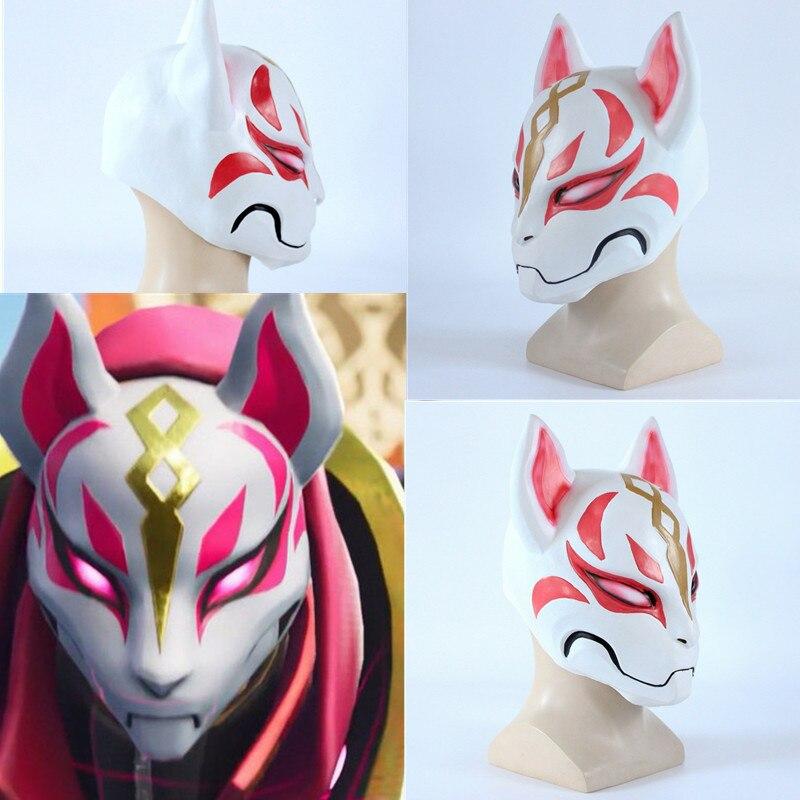 Kitsune quince días máscara deriva Fox máscara de PVC del battle royale de cara completa fiesta de halloween maske de fortnited