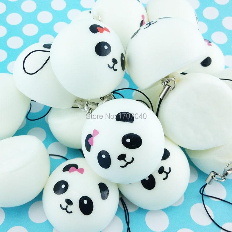 Panda Bun Squishy Mini : Aliexpress.com : Buy 1PCS 4cm Mini Panda Squishy Collectibles Cartoon Buns Bread Simulation Food ...
