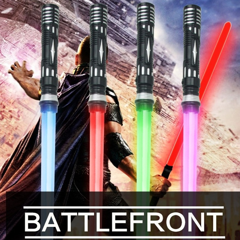 1PCS Star Wars Laser Sword Cosplay Prop Saber Shine Sound Children's Outdoors Luminous Lightsaber Toys Boy Gril Flashing Gift 2pcs cosplay star wars lightsaber sound telescopic led flashing light sword toys weapons sabers pvc action figure toy gifts boys