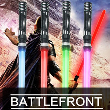 1PCS Star Wars Laser Sword Cosplay Prop Saber Shine Sound Outdoor Children Luminous Lightsaber Toys Boy Gril Flashing Gift