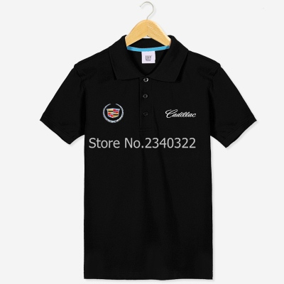 Car 4s shop short sleeve cadillac polo shirts work men 39 s for Work polo shirts with logo