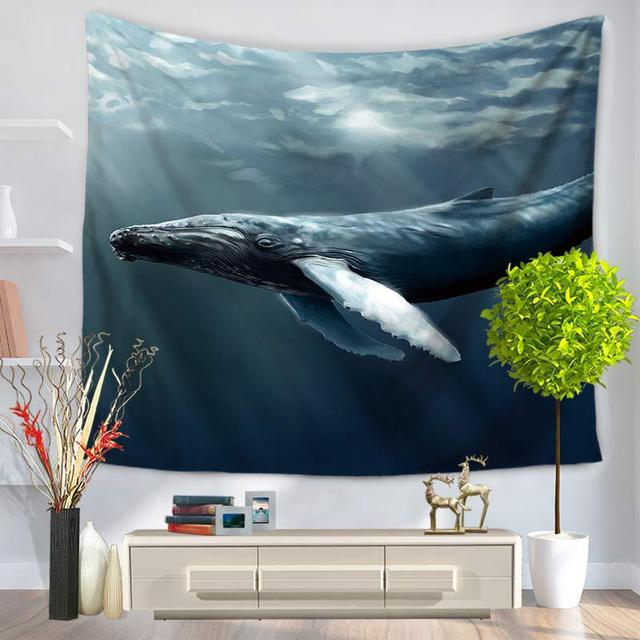 Shark Print Wall Tapestry 4