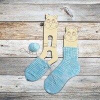 2 шт. лес прекрасный кот Носок Форма не носилки Кошатница подарок ручной вязки носки