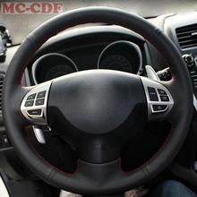 Car Styling Artificial Leather Black Suede Car Steering Wheel Cover for Mitsubishi Lancer EX Outlander ASX