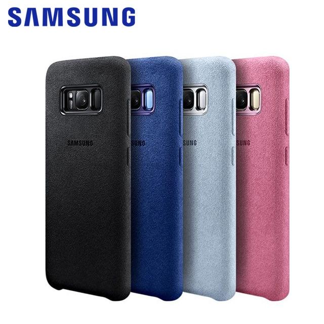 pretty nice f3aaa 830e1 100% Original Samsung Galaxy S8 S8 Plus S8+ Case g9550 9500 Anti-Fall  Leather ALCANTARA Cover 4 color