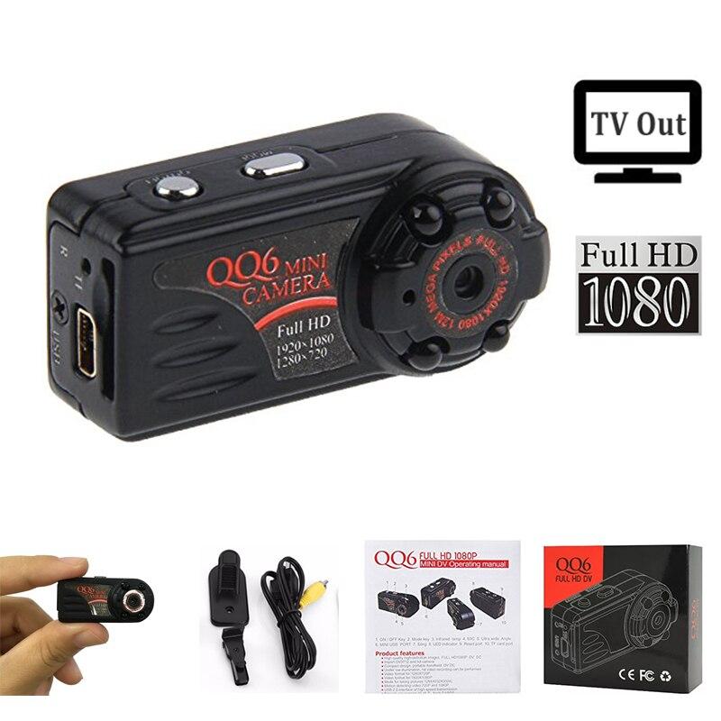 qq6 mini camera full hd 1080p wide angle camera dv. Black Bedroom Furniture Sets. Home Design Ideas