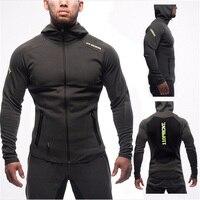 2017 Gyms Sporting Suit Mens Hoodie Zipper Cardigan Pants Suits Tracksuit Two Piece Set Men