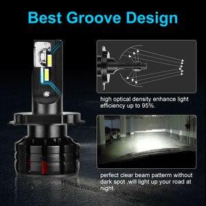 Image 5 - 2pcs H1 H4 LED H7 Canbus H11 H3 HB3 9005 HB4 9006 LED רכב פנס נורות H7 מיני 10000LM 6000K אוטומטי פנס 100W/55W 12V 24V