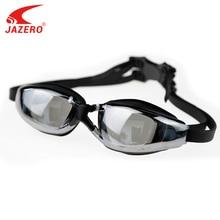JAZERO Men Swimming Goggles Professional Anti Fog UV Protection Swim Eyewear Electroplate Waterproof Glasses For