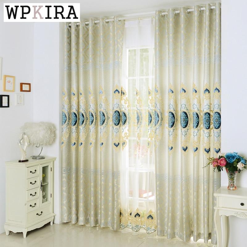Curtains Elegant Embroidered Cloth Curtain Screens The Living Room Bedroom  Curtains Custom Modern Yarn Gauze Screen 326u002620