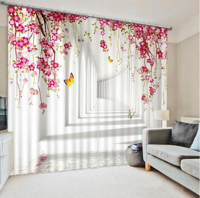US $61.2 49% OFF|Europäische 3D erweitern raum Fenster Vorhang hochpräzise  Luxus Vorhänge Moderne Vorhang Wohnzimmer Schlafzimmer in Europäische ...