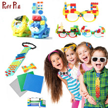 New Digital Watch Necktie Glasses Blocks Legoingly Baseplate Minecraft Classic Bricks Base Plate Toys For Child(China)