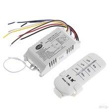 220 v 1/2/3/4 maneiras sem fio ligar/desligar lâmpada interruptor de controle remoto receptor transmissor novo qiang