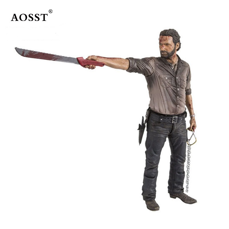 10 inch TV Series The Walking Dead Rick Grimes Bloodsoaked Limited Edition Toy Deluxe Action Figure Model Gift худи print bar the walking dead