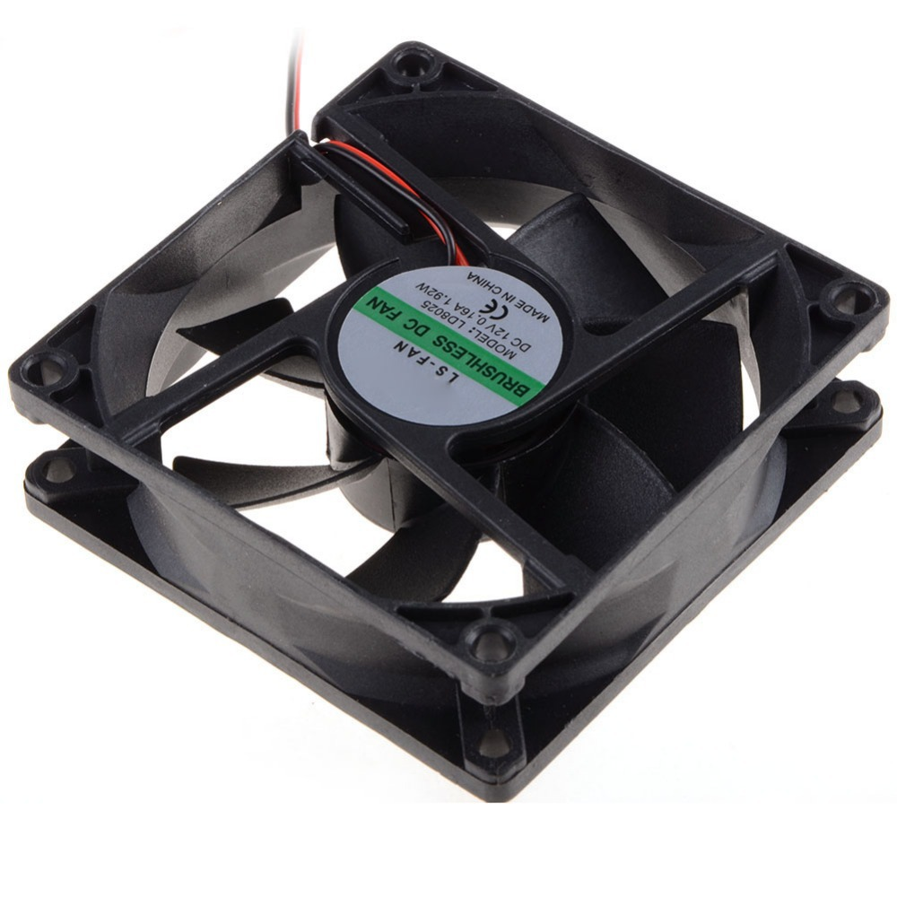 8CM Cooling Fan 8025 DC 12V Computer CPU Fan Power Supply Fan 45cm Cable P0 01