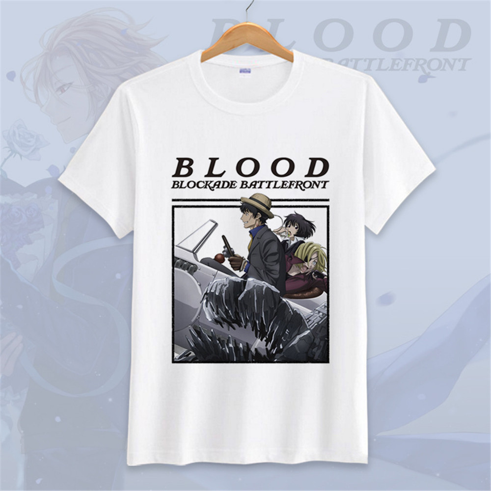 Anime Kekkai Sensen T-Shirt Cartoon Fashion Short Sleeve Blood Blockade Battlefront Klaus V Reinherz Cosplay T Shirt Tees