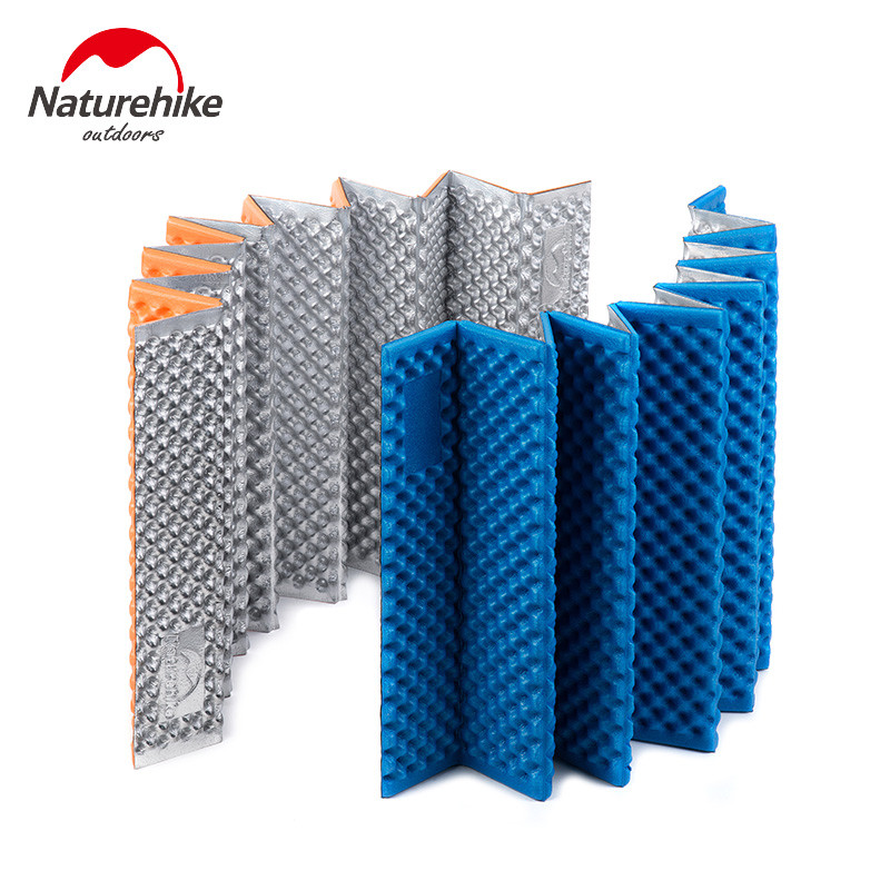 NatureHike Aluminum Film IXPE+EVA Ultralight Outdoor Picnic mat Moistureproof Camping Mattress pad Folding Egg Slot Yoga mat eva thick aluminum yoga mat
