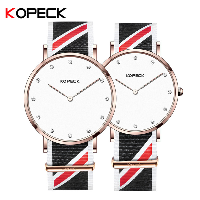 Kopeck High Quality Fashion Brand Quartz Watch Lovers Watches Women Men Commemorate Watch Nylon Strap Simple Couple Wrist Watch o t sea simple brand quartz watches women men fashion casual lovers quartz watch minimalism hand clock for couple reloj montres page 3 page href page 5