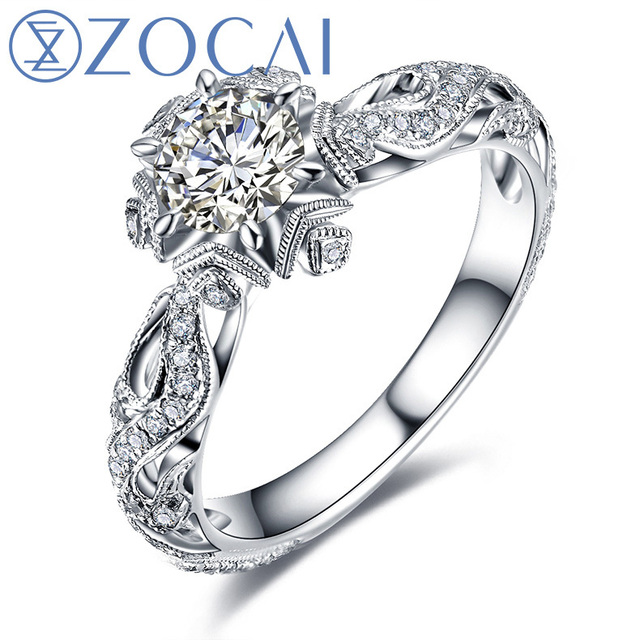 ZOCAI New Arrival ICE and FIRE Series Real Natural Diamond