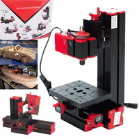 New 6 in 1 Mini Lathes Machine Wood Metal Tool Milling/Drilling/Wood Turning/Jag Saw/Sanding Machine Combined Machine