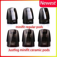 12 sztuk partia oryginalny JUSTFOG Minifit Pod 3 jednostki nadające się do JUSTFOG minifit zestaw startowy akcesoria do papierosów elektronicznych tanie tanio Electronic Żywica 3 5g 1 5ml 21*15*28mm