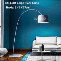 110V/220V Nordic Modern Floor Lamp Creative Standing LED Decoration Lights Living Room Bedroom Folding Rotary Arc Fishing Lamps