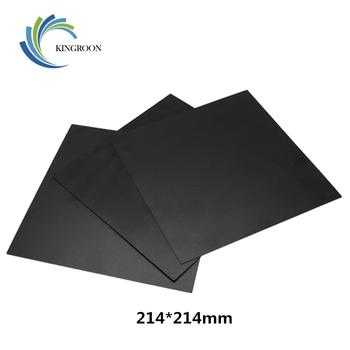 KINGROON 214*214mm drukarka 3D ciepła gorące łóżko naklejki współrzędne drukowane gorące łóżko naklejka na powierzchnię czarny dla drukarki 3D platforma Film tanie i dobre opinie Papier ciepła B0573-25 214x214mm 220x220mm 145x145mm 300x200mm Heat Paper Hot Bed Sticker 3D Printer Parts 3D Printer Accessories