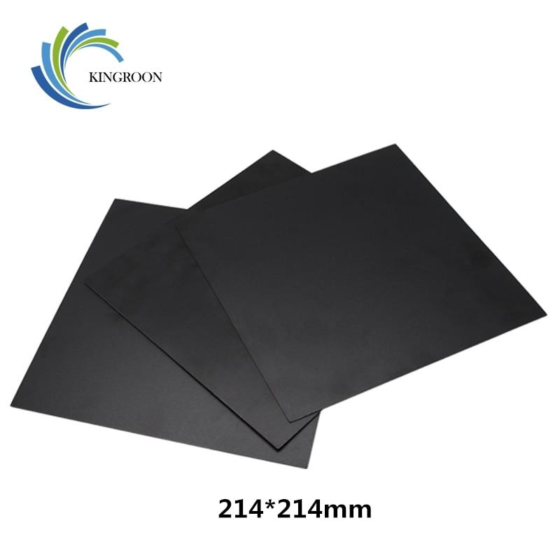 KINGROON 214*214mm 3D Printer Heat Hot Bed Sticker Coordinate Printed Hot Bed Surface Sticker Black For 3D Printer Platform Film