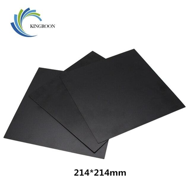 KINGROON 214*214mm 3D מדפסת חום חמה המיטה לתאם מודפס חם מיטת משטח מדבקה שחור עבור 3D פלטפורמת מדפסת סרט