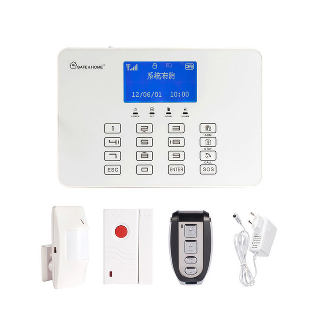 Us 69 55 25 Off 1 Set 433mhz Home Security Wireless Gsm Alarm System Touch Panel Pir Motion Sensor Magnet Switch Door Open Anti Burglar In