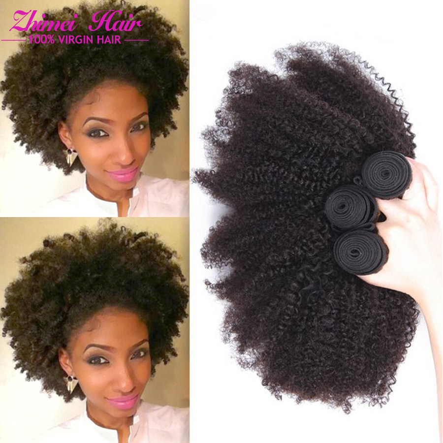 Sunny 7a Brazilian Remy Afro Kinky Virgin Hair 3pcs Brazilian Short Natural Black Kinky Curly ...