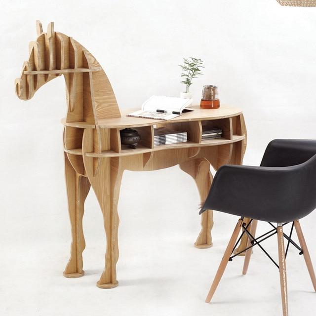 47 48 8 16 5 inches home decor 3d wooden horse art desk creative