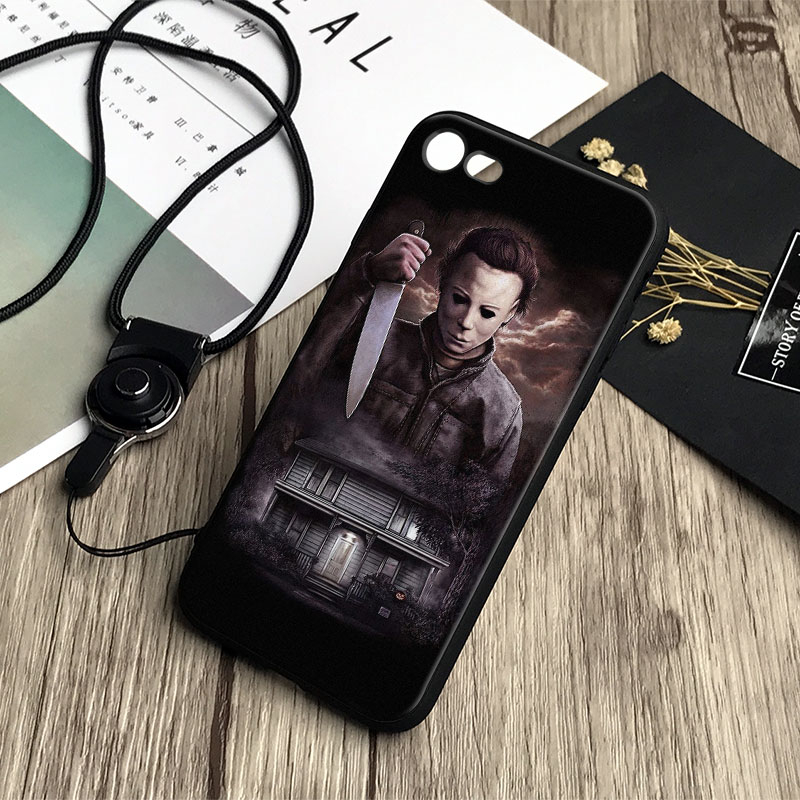 Michael Myers Halloween Soft Silicone Tpu Phone Case Cover Shell For Apple iPhone X 8Plus 8 7Plus 7 6sPlus 6s 6Plus 6 5 5S SE