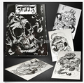 Fantastic Tattoo Book Japan Horimouja Tibetan Skulls Tattoo Flash Book Japanese Style Skull free shipping