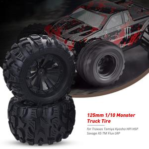 Image 2 - 2020 New 4PCS 125mm 1/10 Monster Truck Tire & Wheel Hex 12mm For Traxxas Tamiya Kyosho HPI HSP Savage XS TM Flux LRP