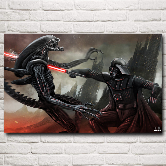 Fantasy Alien Star Wars lightsaber Darth Vader Movie Art Silk Poster Decor Pictures 12×19 15×24 19×30 22×35 Inch Free Shipping