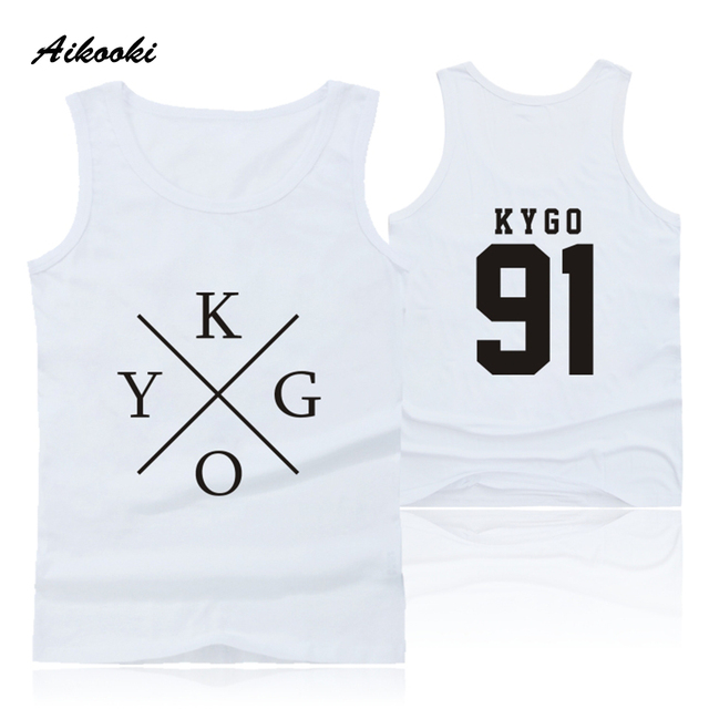 52e9659398525 US $8.69 42% OFF|Aikooki DJ Kygo Logo Vest Men Women Casual Sleeveless  Cotton Popular Tank Top Hip Hop Summer Male Female Fashion Vest Print  Tops-in ...