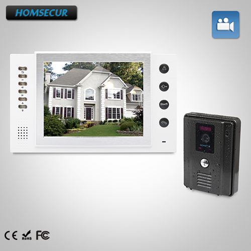 HOMSECUR 8 Video Door Entry Security Intercom+Dual-way Intercom for Apartment TC011-B + TM801R-W homsecur 8 wired hands free video door entry security intercom lcd color screen tc011 w tm801r b