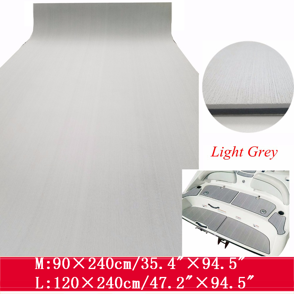 2 Size EVA Boat Decking Sheet Marine Flooring Carpet With Adhesive Solid Color Light Grey Non Slip Mat Yacht Boats Accessories2 Size EVA Boat Decking Sheet Marine Flooring Carpet With Adhesive Solid Color Light Grey Non Slip Mat Yacht Boats Accessories