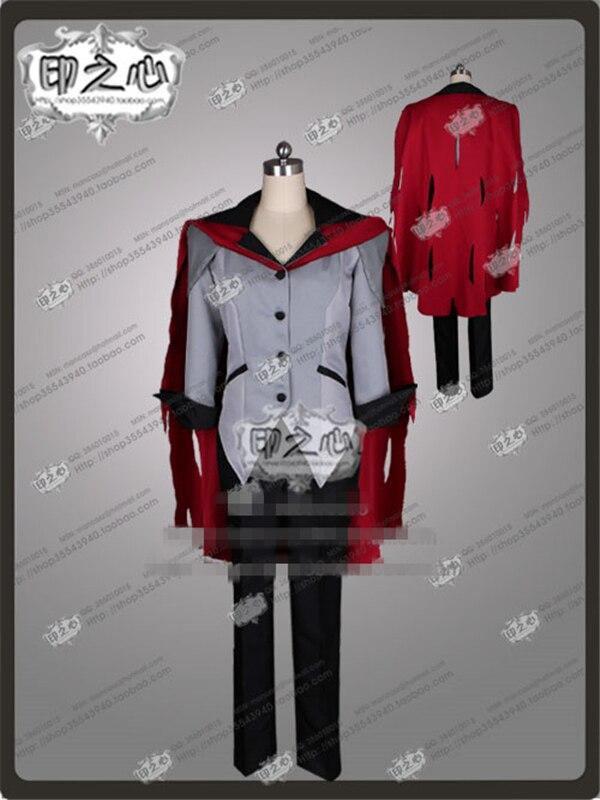 Anime RWBY Qrow Branwen Cos Suit Uniform Red Cosplay Costume Tops+Pants+Shawl C