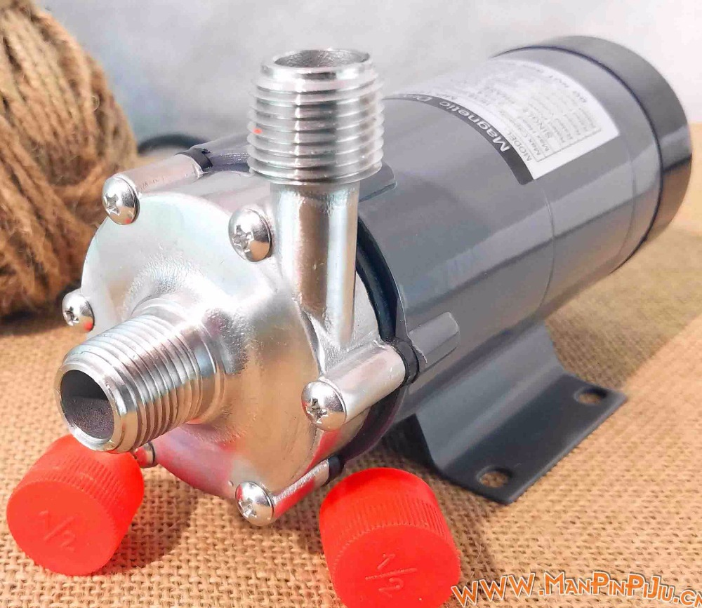 MP-15RM Stainless Steel Food Grade High Temperature Resisting 120C Beer Magnetic Drive Pump Home Brew high head mp 30rzm interface thread 13mm acid magnetic drived pump food grade water pump