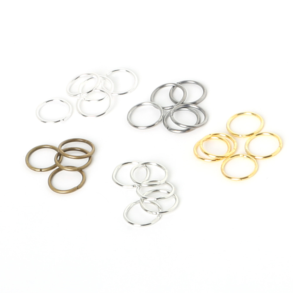 200pcs 0.8x8mm 0.9x10mm Iron Single Ring Jump Rings Split Rings For Jewelry Making DIY Jewelry Findings Components Accessories
