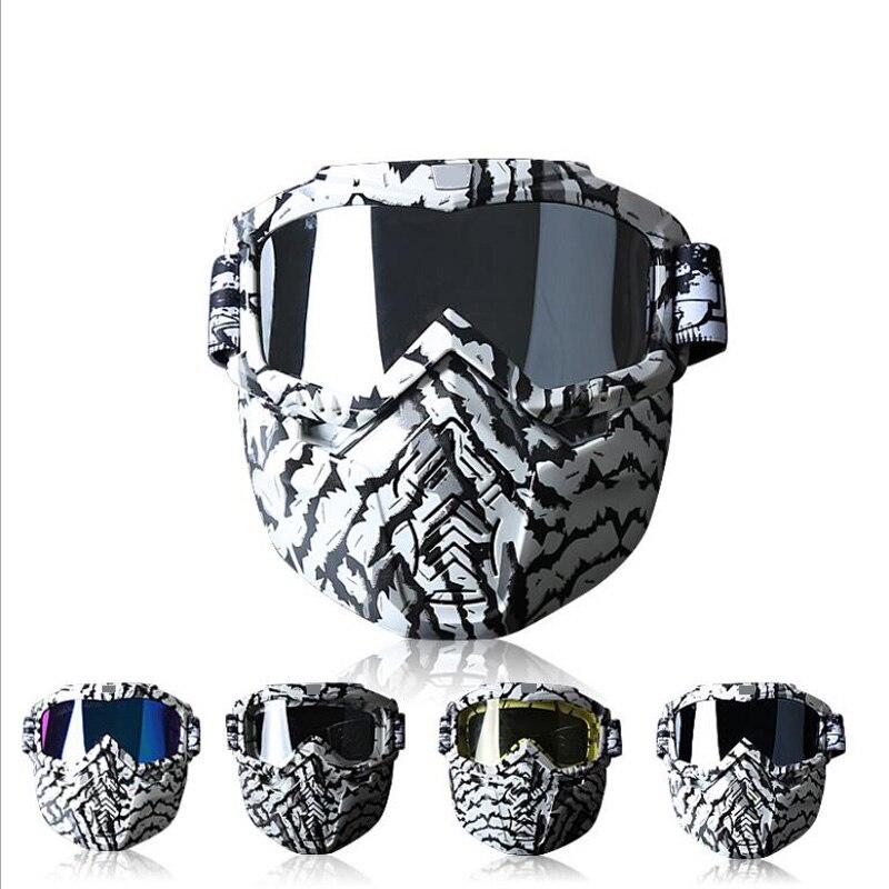 Masque de cyclisme lunettes Hot Face détachable Anti-buée lunettes pour hommes femmes Citycoco Ski vélo moto harley Scooter pièces - 2
