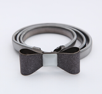 Free shipping new fashion Sexy alloy bow cutout buckle gold belt elastic belly chain Beauty jewelry HOT Infinity gifts for women