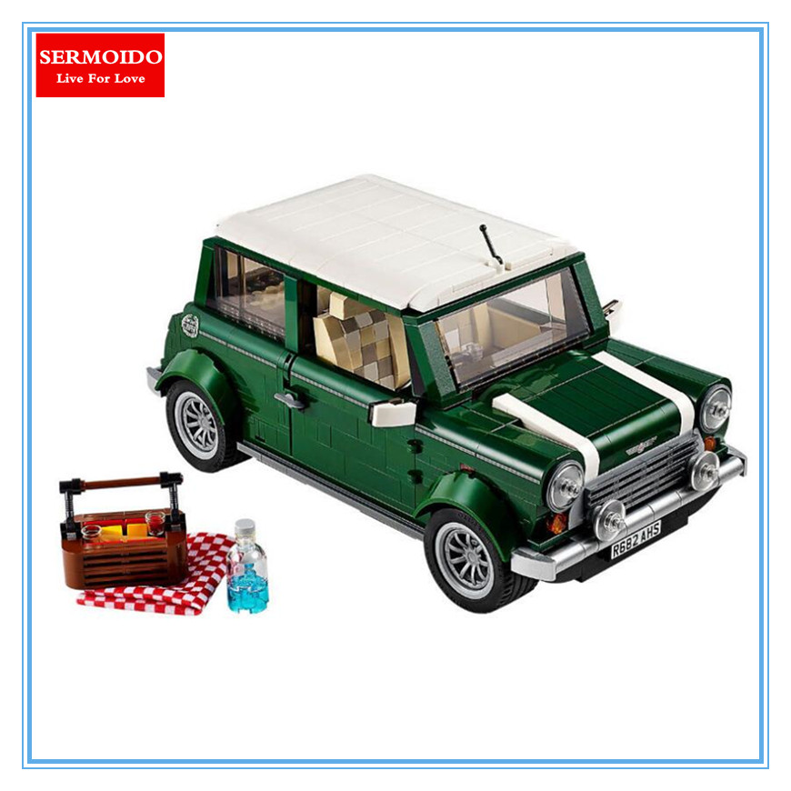 SERMOIDO 21002 technic series Cooper Model MK VII Building Kits Blocks Assemblage Bricks Compatible With 10242 DIY Children Toys free shipping lepin 21002 technic series mini cooper model building kits blocks bricks toys compatible with10242